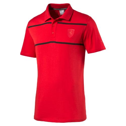 Puma Ferrari Polo rosso corsa Pánské tričko US S 570678-02 3ed0e01b78b